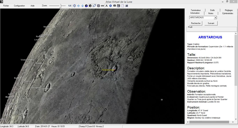 Le logiciel Atlas Virtuel de la Lune, outil indispensable pour préparer ses soirées lunaires