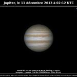 Jupiter le 11/12/2013 à 02:12 TU (Bois-Colombes)