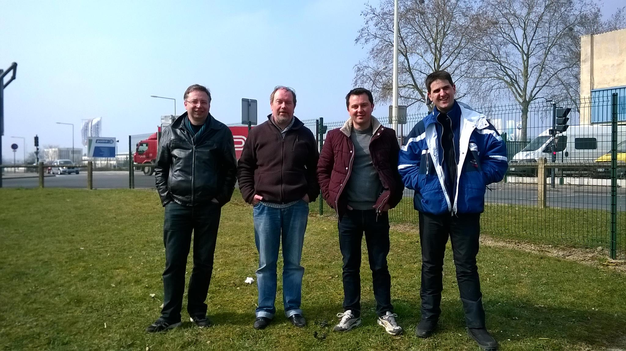 De gauche à droite : Arnaud, moi, Will et Antoine