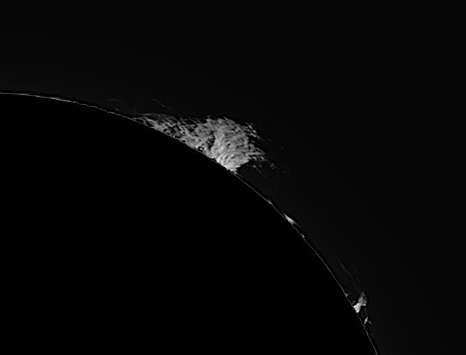 Protubérance solaire en H-alpha le 22/04/2015 à 13:15 TU (Bois-Colombes)