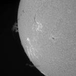 Soleil en H-alpha le 22/04/2015 à 13:57 TU (Bois-Colombes)