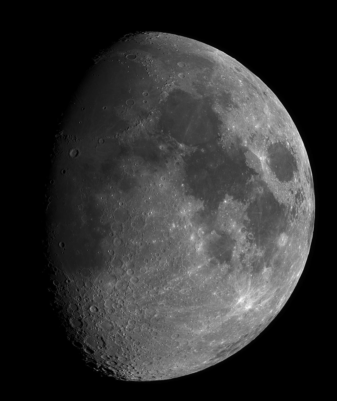 Lune gibbeuse croissante le 04/07/2017 à 0h03 (Eragny-sur-Oise)
